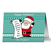 Personalized Santa's List Christmas Cards - 8767