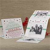Personalized Special Milestones Christmas Cards - Tri-Fold - 8773
