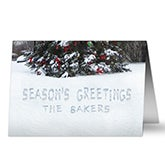 Personalized Writing In The Snow Christmas Cards - 8778