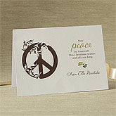 Personalized Gift Of Peace Christmas Cards - 8781