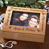 Custom Engraved Wooden Photo Keepsake Box - 8855