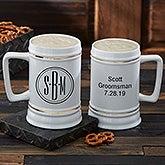 Personalized Groomsmen Beer Stein With Monogram - 8895