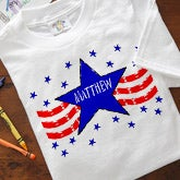 Personalized Kids Clothes - Stars And Stripes Design - 8903