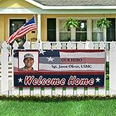 Personalized Military Proud Photo Banner - 8914