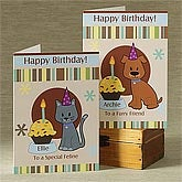 Personalized Birthday Cards for Pets - Pawprints Birthday