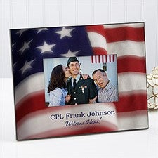 Personalized Patriotic Picture Frame - American Flag - 8933