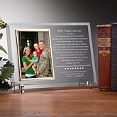 Personalized American Hero Military Glass Picture Frame - 8934