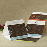 Business Quarter Calendar Personalized Christmas Cards & Envelopes
