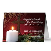 Personalized Light Of Christmas Holiday Cards - 8937