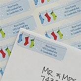 Personalized Stockings With Names Return Address Labels - 8945