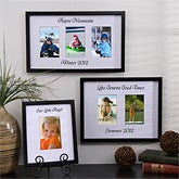 Artistic Custom Mat Personalized Photo Frames - One Picture