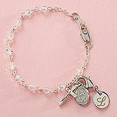 Personalized Christening Gifts - Baby's First Rosary Bracelet - 8956