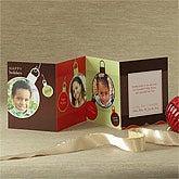Ornament Greetings© Mini Accordion Photo Christmas Card