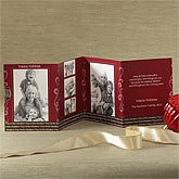 Personalized 5 Photo Christmas Cards - Accordion Style - 8967