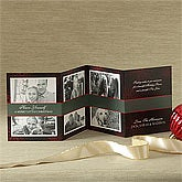 Personalized Snowflake Photo Christmas Cards - Mini Accordion - 8968