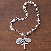Personalized Custom Rosary Bracelet - Prayerful Moments - 8971