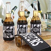 Personalized Can and Bottle Huggies In Wedding Party Design - 8972