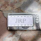 Personalized Silver Money Clip - LaSalle Collection - 8990
