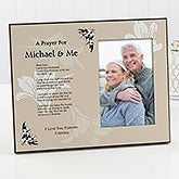 Personalized Memorial Picture Frame and Plaque - Prayer For You and Me - 9030