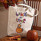 Personalized Trick Or Treat Bag - Jack-O-Lantern - 9091