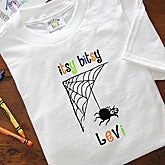Personalized Infant Halloween Clothes - Itsy Bitsy Spider - 9094