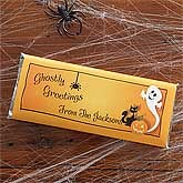 Personalized Halloween Candy Bar Wrappers - Ghostly Greetings - 9138