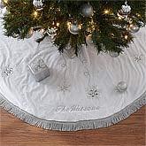 Personalized Christmas Tree Skirt - Season's Sparkle - 9140