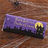 Personalized Halloween Chocolate Bar Wrappers - Haunted House - 9149