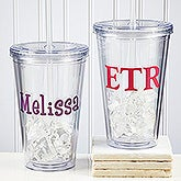 Personalized Reusable Drink Cup with Name - Insulated Acrylic