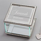 Personalized Jewelry Box For Bridesmaids - 9158