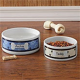 Personalized Dog Bowls - Throw Me A Bone - Large