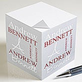 Personalized Note Pad Paper Cubes - Personally Yours - 9162