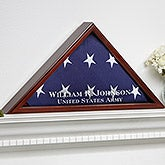 Personalized Flag Display Case - American Hero - 9164