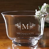 Personalized Wedding Gift Crystal Bowl - 9177