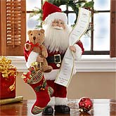 "Personalized Santa Doll - 16"" Christmas Collectible - 9181"