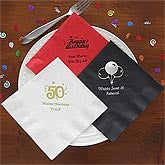 Personalized Birthday Party Napkins - 9198