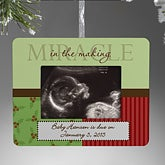 Baby Announcement Personalized Christmas Ornament Frame - 9209