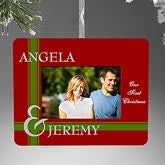 Personalized Photo Frame Christmas Ornament - To Love You - 9210