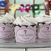 Personalized Birthday Cupcake Wrappers - Birthday Girl - 9220
