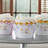Personalized Baby Cupcake Wrappers - Baby Girl - 9222