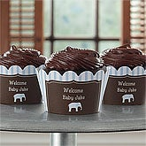 Personalized Baby Cupcake Wrappers - Baby Boy - 9223