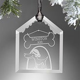 Personalized Dog House Christmas Ornaments - 9226