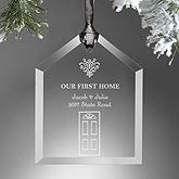 Our First Home Engraved Ornament