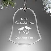 Personalized Anniversary Christmas Ornament - Glass Bell - 9229