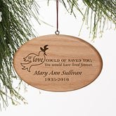 Personalized Memorial Christmas Ornament - Forever Loved - 9230