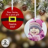 Personalized Christmas Ornaments - Santa's Belt - 9231