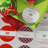 Personalized Christmas Gift Stickers - Peace Joy Love - 9236