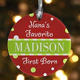 Personalized Kids Christmas Ornaments - I'm The Favorite - 9238