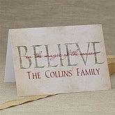 Believe In Christmas Personalized Greeting Card