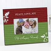 Personalized Christmas Picture Frame - Family Is Forever - 9244